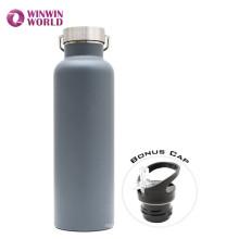 FDA 1000ml bouteille d'eau de voyage en acier inoxydable à double paroi privée Lable