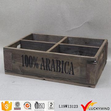 Caixote de caixa rústico do armazenamento do olhar do vintage