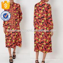Neue Mode Multi Floral Print Seidenmohn Kleid mit Krawatte Hals Herstellung Großhandel Mode Frauen Bekleidung (TA5293D)