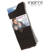 Miorre Wholesale Sweat-absorbent Plaid Winter Men Meias de lã