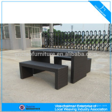 Garden furniture synthetic rattan bar set