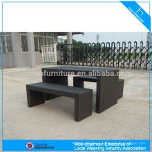 Conjunto de barra de vime sintético mobiliário de jardim