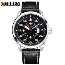 rotating dial watch curren brand alloy quartz watch
