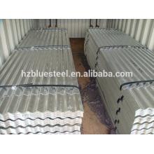 Panneau de toit et de mur ondulé en métal à faible prix pour vente, en acier galvanisé CGI Feuille ondulée en aluminium pré-peinturé en aluminium