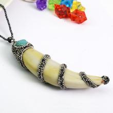 Оптовые ювелирные изделия способа естественные Conch / морские шкентель улитки с кристаллическим Rhinestone Paved