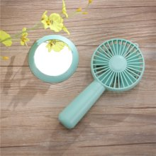 Handheld Mini USB Mirror Fan With 3 Speeds