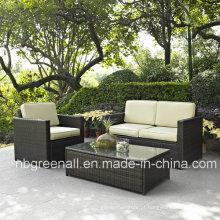 Mobília do pátio do vime do sofá do jardim (GN-9078-4S)