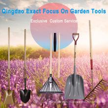 Herramienta para herramientas agrícolas de pala con mango de madera con mango de polietileno D-Grip