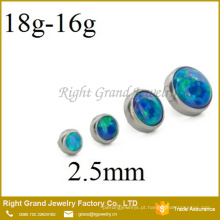 316L Opal de aço cirúrgico Jeweled Micro topo da âncora dérmica