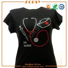 Hotfix rhinestones Nurse stethoscope appliques