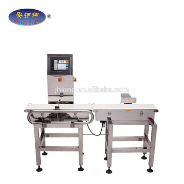 metal detector and check weigher machine used for food processing line