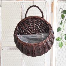 Modern design wicker flower pot plant pot woven rattan hanging flower baskets for flowers arrangement