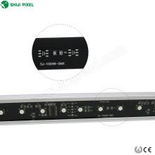 Alojamento de alumínio programável 24 barras de diodo emissor de luz conduzidas baratas impermeáveis do pixel do dmx rgb do volt