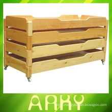 Hot Sale ! Kindergarten Wooden Children Bed Stackable