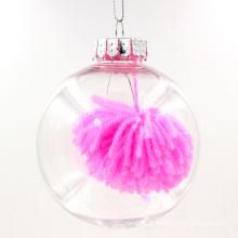 Ornamentos redondos de suspensão de Natal transparente pendurado
