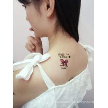 Tatouage horrible de corps d'autocollant de tatouage de crâne de caractère pour l'art de corps