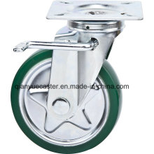 6 Inch Swivel/Brake High Quality Caster with Steel Core Rubber Caster Wheel, Janpanese Style