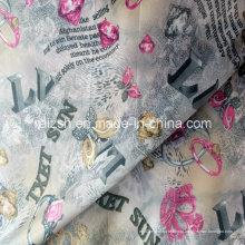 Tecido de poliéster tafetá forro para vestuário de moda