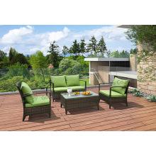 Set di mobili da giardino in vimini con resistenza ai raggi UV