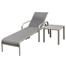 American Day Day com mesa de café lateral Taupe Aluminium Sling for Hotel Outdoor Deck