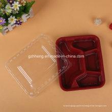 Bandeja de comida rápida de restaurante de plástico personalizado (contenedor de alimentos PP)