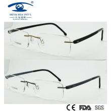 Fashion 2015 Titanium Rimless Eyeglass Frames (1017)