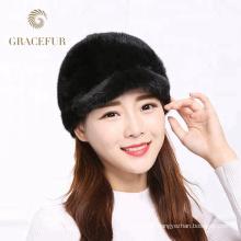 Couleurs confortables vrais chapeaux de fourrure de vison boutique