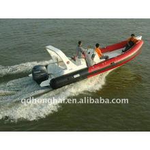 Iate de luxo RIB680A esporte inflável barcos com motor de 115hp de pvc