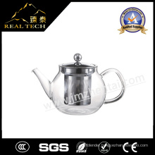 New Drinkware Heat Resistant Pyrex Handle Glass Teapot with Stainless Steel Plunger