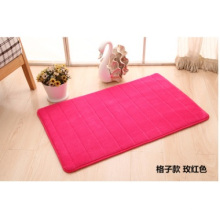 Coral Fleece Mat with Anti Slip Backing
