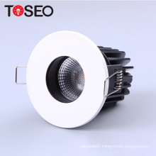IP65 firerated recessed down light fixture 8W 10W 11W trimless fixed fire proof led cob downlight