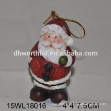 Colgante de cerámica para Navidad Santa