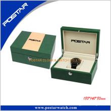 Boîte de montre en cuir à la mode de qualité supérieure faite sur commande