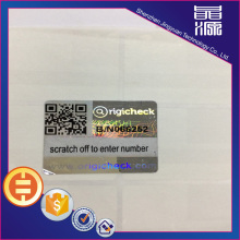 3D Scratch Off QR Hologram Pegatinas