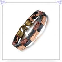 Jóias de moda pulseira de couro de aço inoxidável pulseira (lb366)