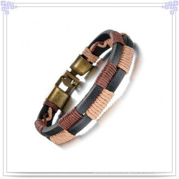 Joyería de moda de acero inoxidable pulsera de cuero pulsera (lb366)