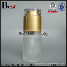 Los cosméticos del vidrio esmerilado 30ml vacian la botella con la bomba, botellas de empaquetado vacías, botella cosmética de la loción del cuidado de la piel