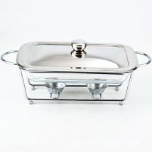 Bufete de aço inoxidável do restaurante da bacia de vidro da prateleira que serve o prato de aquecimento por atrito barato