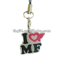 new design metal letter mobile phone straps