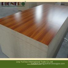 Wooden Grain Melamine MDF for Office Table Wordrobe Cabinet Door
