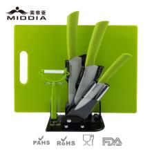 Couteaux en céramique Set de cuisine avec planche à découper