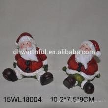 2016 adornos de navidad Papá Noel de cerámica