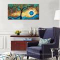 Árvore de pintura a óleo sobre tela contemporânea Lucky Árvore Canvas Wall Art Atacado