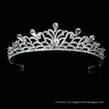 Venda por atacado de boa qualidade vestido de noiva de cristal tiara coroa capacete de noiva novo design para o baile de formatura