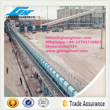 Unloading Enclosed Belt Conveyor for Dusty Material