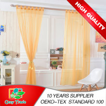 Moderna lisa sólida Sheer Voile janela cortina com Loops, Ready Made Tab superior Sheer Voile cortinas de painel