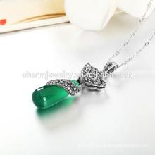 El estilo de plata de lujo vendedor caliente de la personalidad del collar para las mujeres occidentales vende al por mayor SCR002