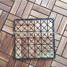 Easy Installing Deck Tiles with Interlocking Tools