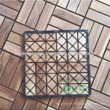 Installation facile de carreaux de plate-forme de verrouillage 300 * 300 * 19 mm Fabriqué au Vietnam