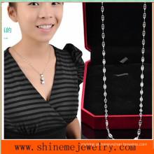 Shineme Jóias de moda em aço inoxidável colar de lábio feminino (SSNL2639)